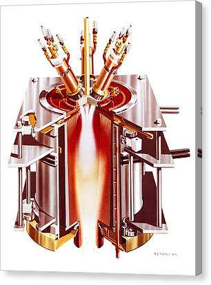 Centrifugal Plasma Furnace Canvas Print by Science Photo Library
