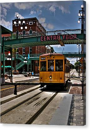 Centro Ybor Stop Canvas Print by Kandy Hurley