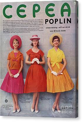 Cepea Poplin 1959 1950s Uk Womens Canvas Print by The Advertising Archives