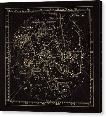 Cepheus Constellations, 1829 Canvas Print by Science Photo Library
