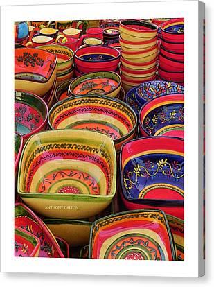 Ceramic Bowls Canvas Print by Anthony Dalton