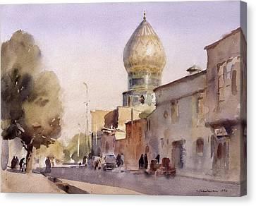 Ceramic Reflection, Shiraz, 1994 Wc On Paper Canvas Print by Trevor Chamberlain