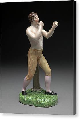 Ceramic, The Boxer Tom Cribb In Canary Breeches Canvas Print by Litz Collection