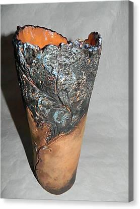 Ceramic Vase - Castle Garden Canvas Print by Keramik Sonnenscheindesign