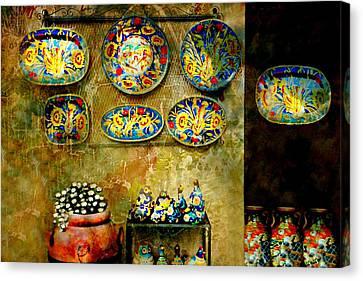 Ceramica Italiana Canvas Print by Diana Angstadt