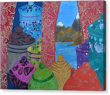 Ceramics View 2 Canvas Print by Karen Coggeshall