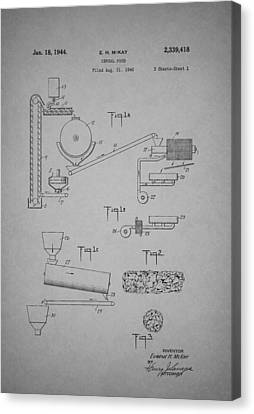 Cereal Food Machine Patent 1944 Canvas Print
