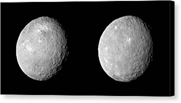 21st Century Canvas Print - Ceres by Nasa/jpl-caltech/ucla/mps/dlr/ida