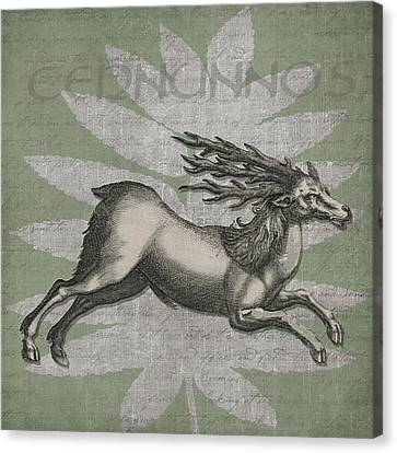 Cernunnos Lord Of The Wild Things Canvas Print by Kandy Hurley