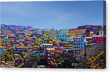 Cerro Artilleria Valparaiso Chile Canvas Print