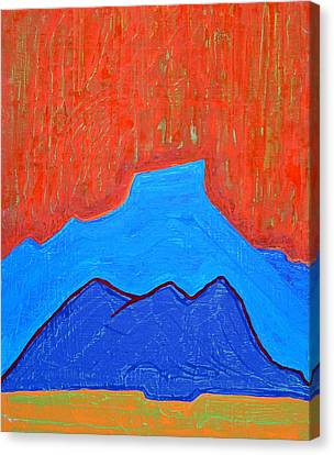 Cerro Pedernal Original Painting Sold Canvas Print