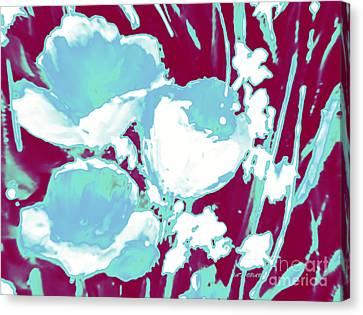 Cerulean Flower Bouquet  Canvas Print by Tatjana Popovska