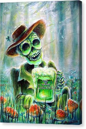 Cerveza Verde Canvas Print by Heather Calderon