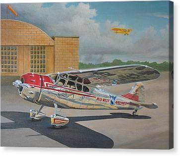 Cessna 195 Canvas Print by Stuart Swartz