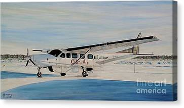 Canvas Print featuring the painting Cessna 208 Caravan by Marilyn  McNish