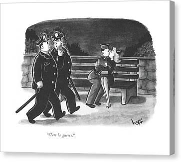 C'est La Guerre Canvas Print by Sydney Hoff