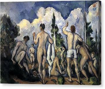 Cezanne, Paul 1839-1906. Bathers. 1890 Canvas Print