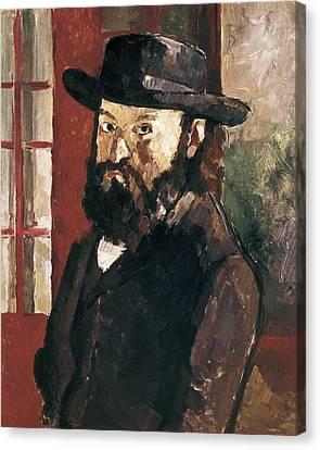 Cezanne, Paul 1839-1906. Self-portrait Canvas Print by Everett