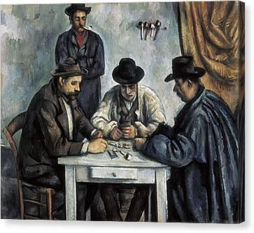 Cezanne, Paul 1839-1906. The Card Canvas Print