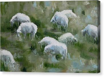 Cezanne Sheep Canvas Print