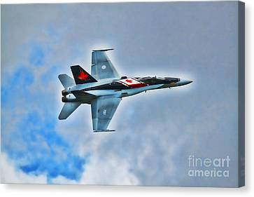 Canvas Print featuring the photograph Cf18 Hornet  by Cathy  Beharriell