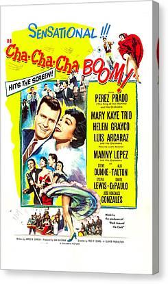 1950s Poster Art Canvas Print - Cha-cha-cha Boom, Us Poster Art by Everett