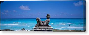 Chac Mool Altar, Cancun, Mexico Canvas Print by Panoramic Images