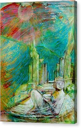 Chacmool De Chichen Itza Canvas Print by Terri Ana Stokes
