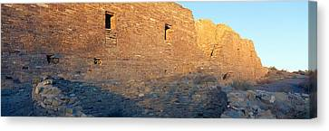 Chaco Canyon Indian Ruins, Sunset, New Canvas Print