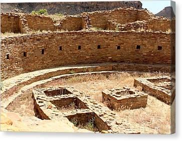Chaco Ruins Canvas Print by Elizabeth Sullivan