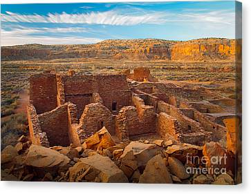 Chaco Ruins Number 2 Canvas Print by Inge Johnsson