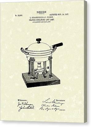 Chafing Dish 1907 Patent Art Canvas Print