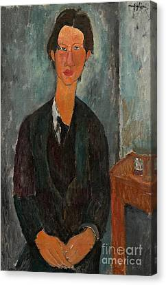 Chaim Soutine Canvas Print by Amedeo Modigliani