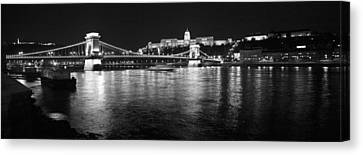 Chain Bridge-budapest Canvas Print