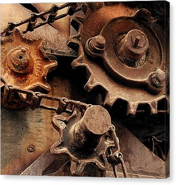 Chain Driven  Canvas Print by Steven Milner