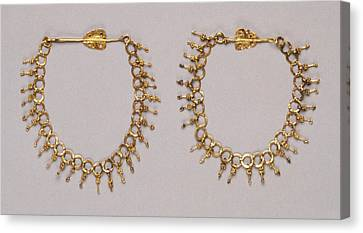 Gold Chain Canvas Print - Chain Unknown Roman Empire 250 - 400 Gold Object L 23 Cm 9 by Litz Collection