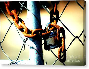 Canvas Print featuring the photograph Chained by Christiane Hellner-OBrien