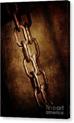 Industrial Background Canvas Print - Chains by Jelena Jovanovic