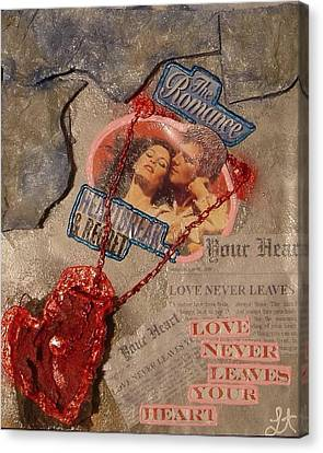 Canvas Print featuring the painting Chains Of Love by Lisa Piper