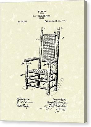 Chair 1895 Patent Art Canvas Print by Prior Art Design