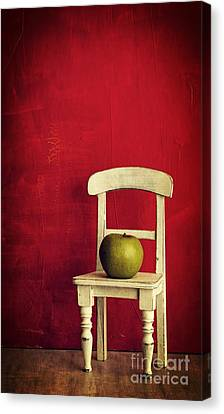 Chair Apple Red Still Life Canvas Print by Edward Fielding