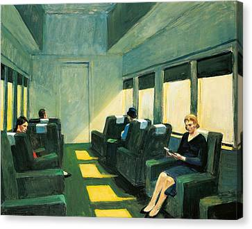 Chair Car Canvas Print by Edward Hopper