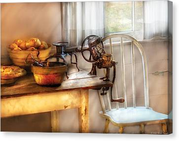 Chair - Kitchen Preparations  Canvas Print by Mike Savad