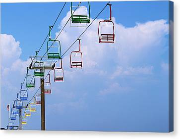 Chair Lifts Canvas Print by Denise Keegan Frawley