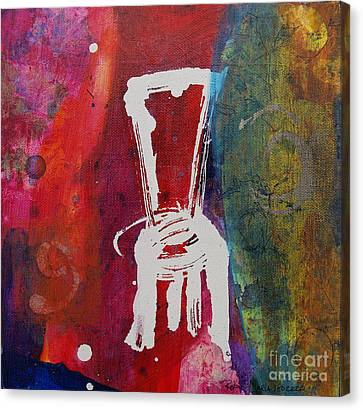 Canvas Print featuring the painting Chair by Robin Maria Pedrero