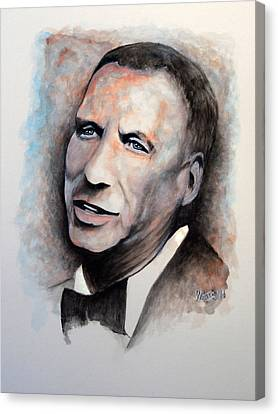 Chairman Of The Board - Sinatra Canvas Print by William Walts