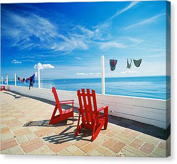 Chairs Cape Cod Ma Canvas Print