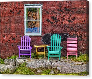 Chairs Of West Dover Canvas Print by Ken Morris