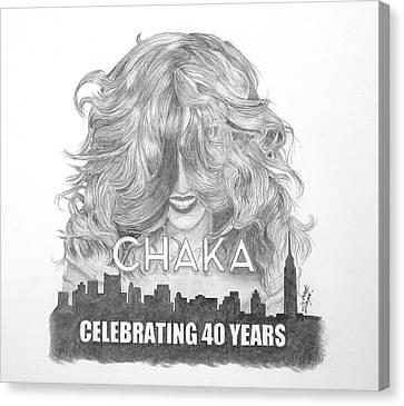 Chaka 40 Years Canvas Print