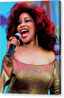 Modern Digital Art Canvas Print - Chaka Khan by Fli Art